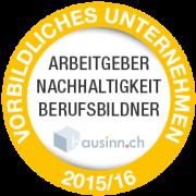 Auszeichnung Vorblidliches Unternehmen 2015/16